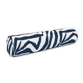 Blue Zebra Print Bolster Pillow