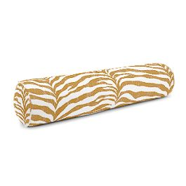 Gold Zebra Print Bolster Pillow