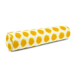 Bright Yellow Dot Bolster Pillow