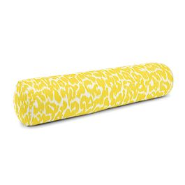Yellow Leopard Print Bolster Pillow