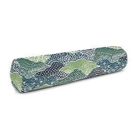 Green Hillside Floral Bolster Pillow