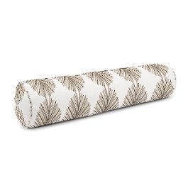 White & Tan Spiky Oval Bolster Pillow
