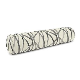 Black & White Abstract Stripes Bolster Pillow