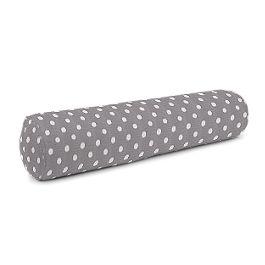 White & Gray Polka Dot Bolster Pillow