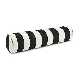 Black & White Awning Stripe Bolster Pillow