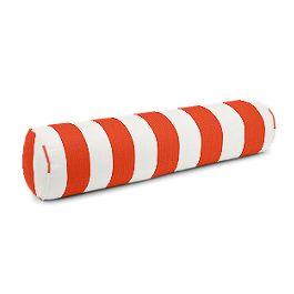 Red Awning Stripe Bolster Pillow