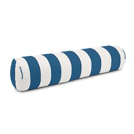 Royal Blue Awning Stripe Bolster Pillow
