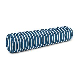 Bright Blue Thin Stripe Bolster Pillow