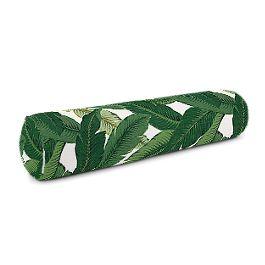 Green Banana Leaf Bolster Pillow