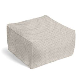 Gray Diamond Pintuck Pouf