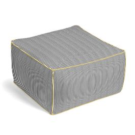 Black Ticking Stripe Pouf