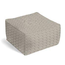 Taupe Geometric Maze Pouf