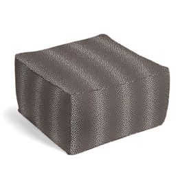 Dark Taupe Dotted Stripe Pouf