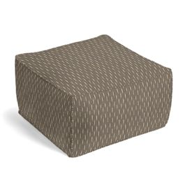 Tan & Black Dashes Pouf