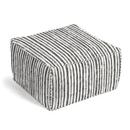Black & White Bamboo Pouf