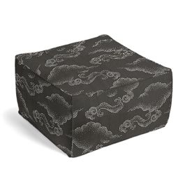 Charcoal Gray Cloud Pouf