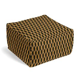 Bronze & Charcoal Diamond Pouf