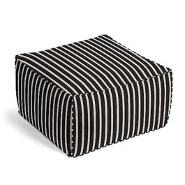 Black & White Thin Stripe  Pouf
