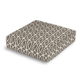 Modern Taupe Trellis Box Floor Pillow