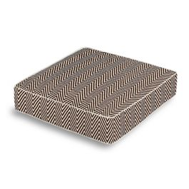 Knitted Brown Chevron Box Floor Pillow