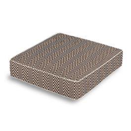 Knitted Brown Chevron Box Floor Pillow