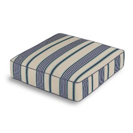 Gray, Teal & Blue Stripe Box Floor Pillow
