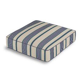 Gray, Teal & Blue Stripe Box Floor Pillow