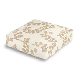 Gold Metallic Swirl Box Floor Pillow