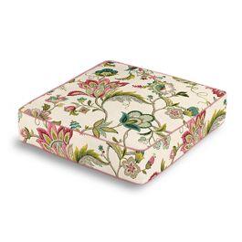 Teal & Pink Floral Box Floor Pillow