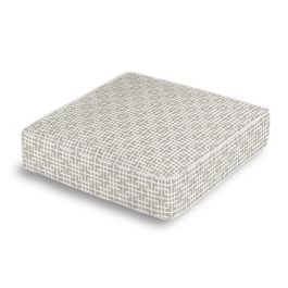 Gray Square Lattice Box Floor Pillow