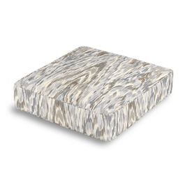 Tan & Gray Faux Bois Box Floor Pillow