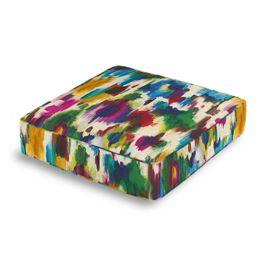 Multicolor Watercolor Box Floor Pillow
