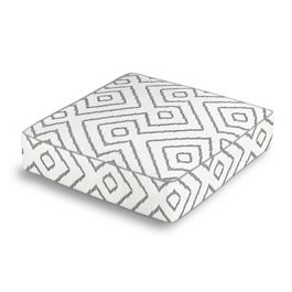White & Gray Diamond Box Floor Pillow