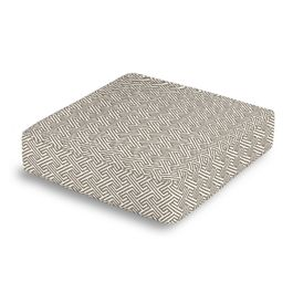 Taupe Geometric Maze Box Floor Pillow