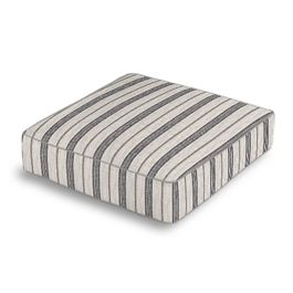 Rustic Gray Stripe Box Floor Pillow