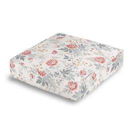 Pink & Gray Lotus Flower Box Floor Pillow