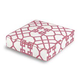 Asian Pink Trellis Box Floor Pillow