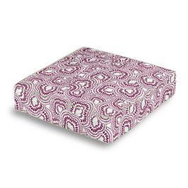Seafoam & Purple Scallop Box Floor Pillow