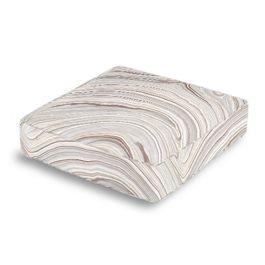 Light Gray Marble Box Floor Pillow