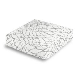 Gray & White Net Box Floor Pillow