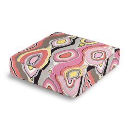 Hot Pink & Orange Abstract Box Floor Pillow
