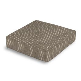 Tan & Black Dashes Box Floor Pillow