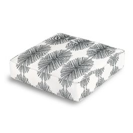 Black & White Spiky Oval Box Floor Pillow
