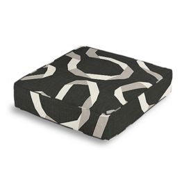 Charcoal Gray Ribbon Box Floor Pillow