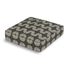 Dark Gray & White Fan Box Floor Pillow