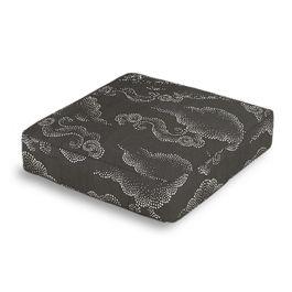 Charcoal Gray Cloud Box Floor Pillow