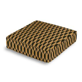 Bronze & Charcoal Diamond Box Floor Pillow