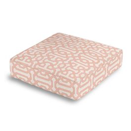 Pale Coral Trellis Box Floor Pillow