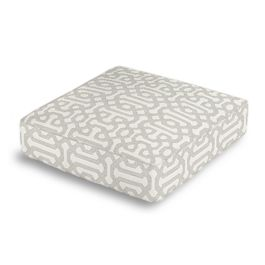 Light Gray Trellis Box Floor Pillow