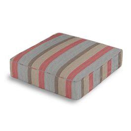 Red Blue Tan Stripe Box Floor Pillow